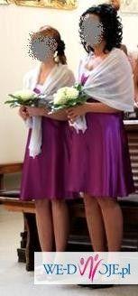 Wyjątkowa suknia ślubna! GRATIS: halka, 2 welony, sukienki dla druhen !!!