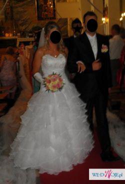 Wyjątkowa suknia ślubna jak Pronovias, San Patrick