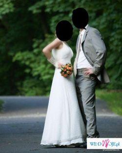 Wyjątkowa suknia ślubna model Emylyn (Nabla), dodatki gratis