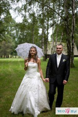 Wyjątkowa suknia ślubna r.38 Okazyjna cena ! WARTO !