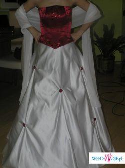 Wyjątkowa suknia ślubna rozm. 36