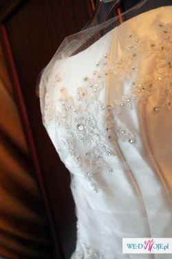 Wyjątkowa suknia slubna rozm. 38 stan bdb wyczyszczona