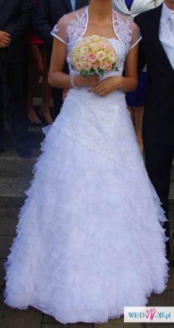 """Wyjątkowa suknia ślubna typu """"Hiszpanka"""""""
