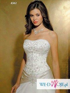 Wyjątkowa suknia z kolekcji Allure Bridals, bez trenu model 8362