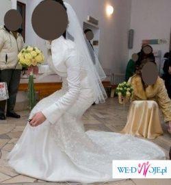 """wyjątkowo piękna suknia ślubna """"rybka"""", rozm. 38"""