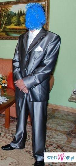 Wyjątkowy mieniący się garnitur ślubny+gratisy