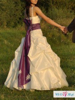 WYMARZONA suknia ślubna - rozm. 36 - ecru. GRATISY!