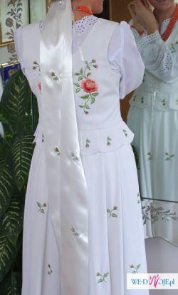 WYPOŻYCZĘ górlaskie ubranie ślubne