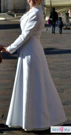 Wypożyczę płaszcz ślubny zimowy damski