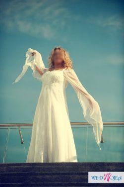 WYSMUKLAJACA piekna zwiewna suknia 46 48
