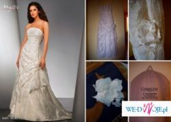 Wytworna suknia ślubna Satu Mare, salon Cymbeline, ecru