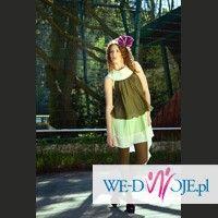 Zielona sukienka dla eleganckiej Kobiety w błogosławionym stanie