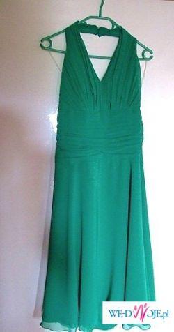zielona suknia wieczorowa