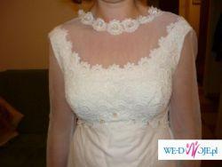 Zimowa Suknia Slubna - sliczna i orginalna, kupiona w Anglii