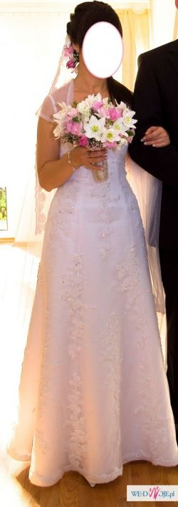 zjawiskowa biała suknia ślubna GALA Marika