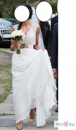 Zjawiskowa piękna suknia ślubna w greckim stylu  jak Julie Vino