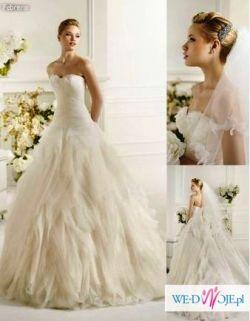 Zjawiskowa suknia Febrero salon Madonna atelier diagonal pronovias hiszpańska