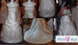 Zjawiskowa suknia slubna dla puszystej