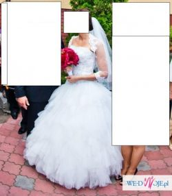 Zjawiskowa suknia ślubna Gaylenne  HERMS