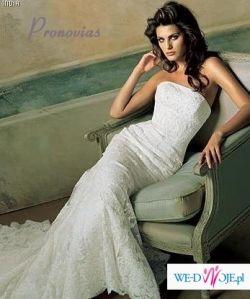 """Zjawiskowa suknia ślubna """"India"""" z kolekcji Dreams  Hiszpańskiej firmy Pronovias"""