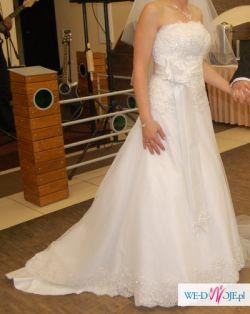 Zjawiskowa suknia ślubna, jedyny egzemplarz tego wzoru.
