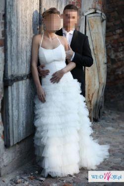 Zjawiskowa suknia z portugalskiego tiulu