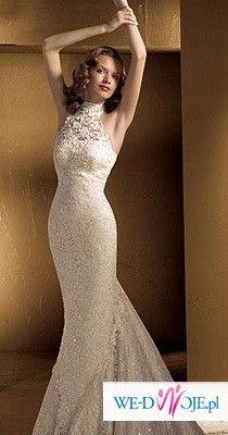 ZNIEWALAJĄCA Suknia Ślubna z kolekcji LA SPOSA 2006 model GLACE!!!