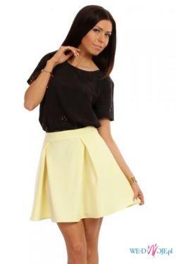Żółta rozkloszowana Spódnica XS-XL