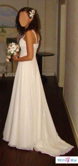 Zwiewna, delikatna, muślinowa suknia ślubna - dla prawdziwej romantyczki
