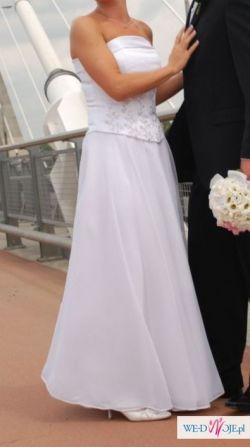 Zwiewna i czarująca suknia ślubna r.38