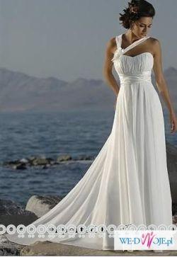 Zwiewna i delikatna suknia ślubna- super cena!!!