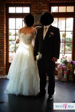 Zwiewna sukienka ślubna