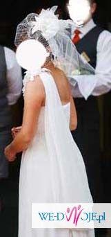 Zwiewna suknia ślubna w stylu greckim
