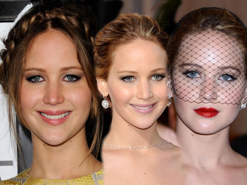 3 makijaże Jennifer Lawrence