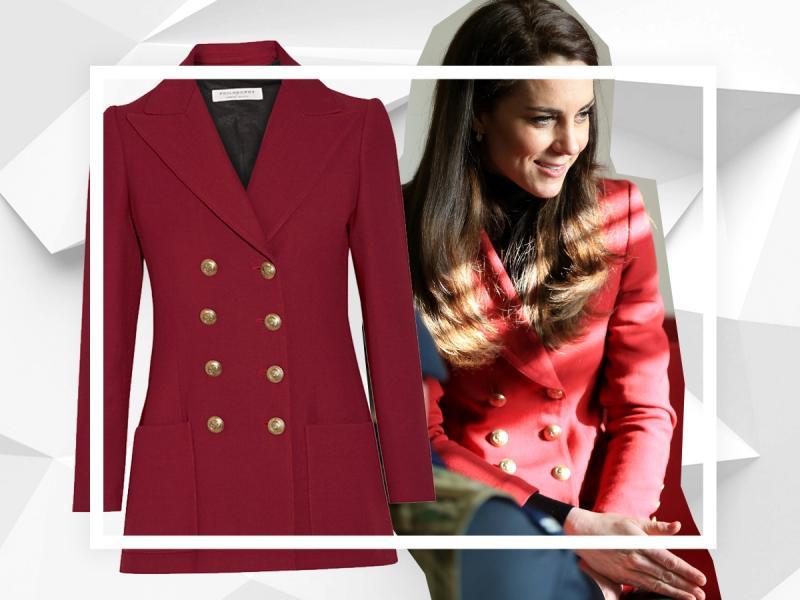 35-letnia księżna Kate w modnej marynarce. Jak stylizuje look smart casual?