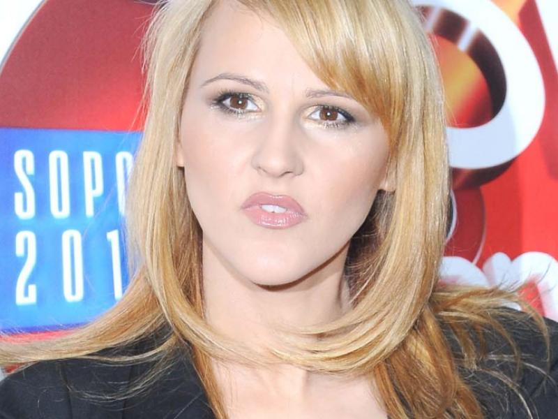 Agnieszka Chylińska jako blondynka