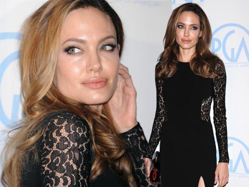Angelina Jolie w koronkach