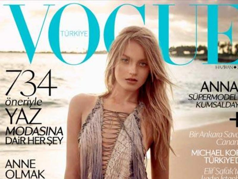 Anna Jagodzińska na okładce tureckiego Vogue`a
