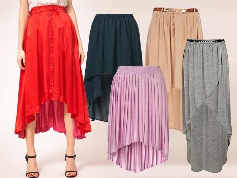 Asymetryczne spódnice wiosna 2012