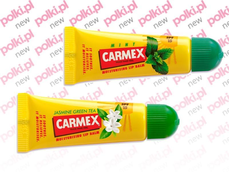 Balsam do ust Carmex z zieloną herbatą i z miętą