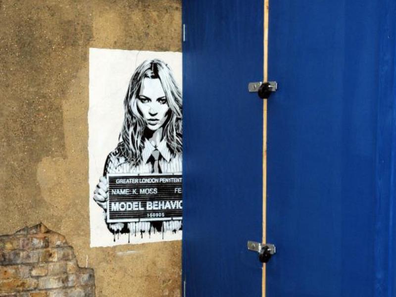 Banksy namalował Kate Moss