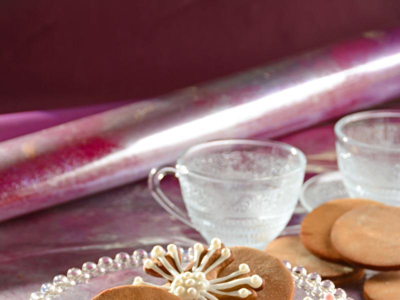 Bezglutenowe ciastka-śnieżynki