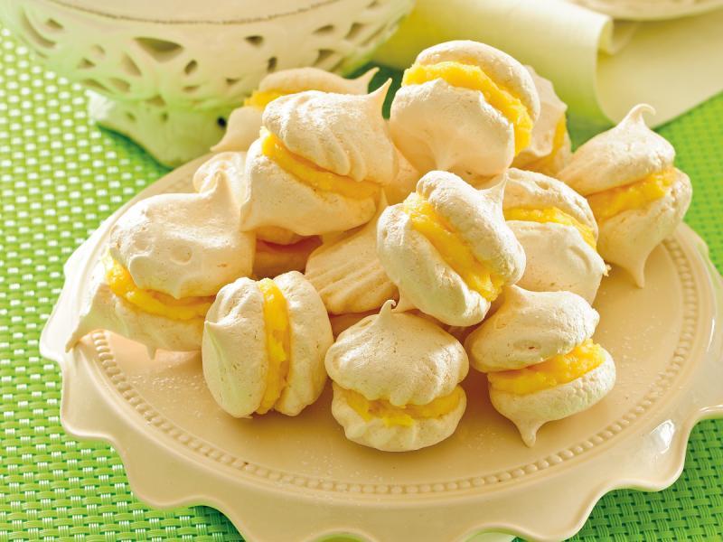 Bezy z kremem cytrynowym