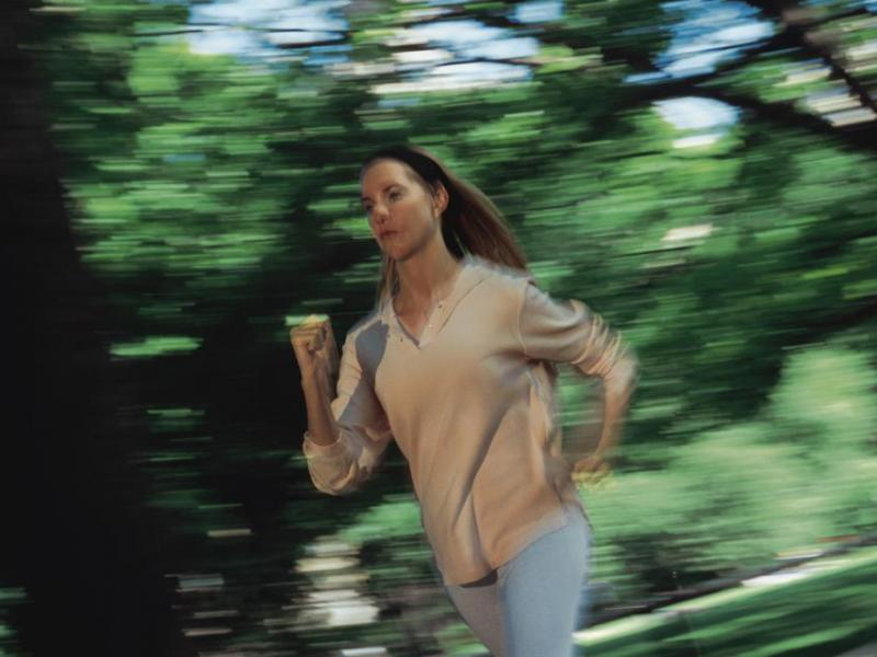 kobieta, bieganie
