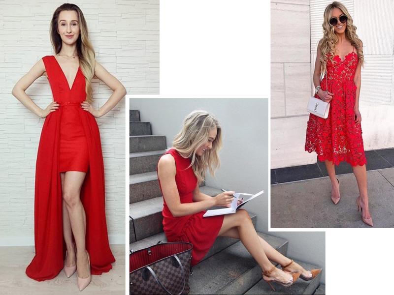 b67fe59deb Jakie buty do czerwonej sukienki  Zobacz propozycje internautek ...