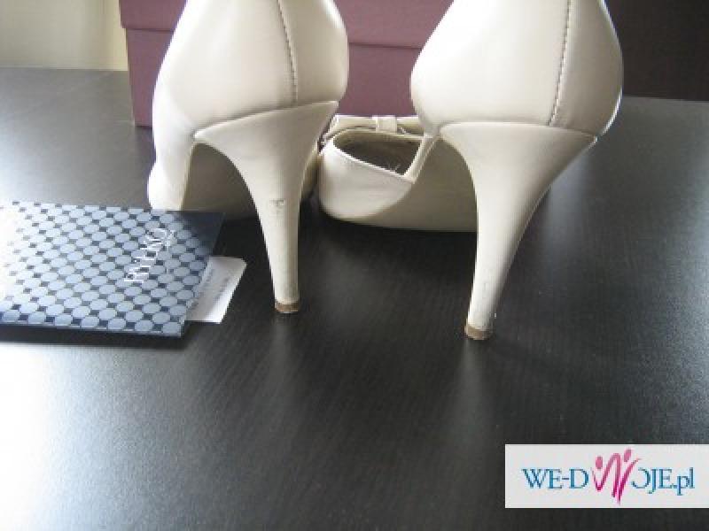 1a6d602c buty ślubne Ryłko Estima rozm. 38,5 kolor: krem/ ivory - Buty - Ogłoszenie  - Komis, baza ogłoszeń - Polki.pl