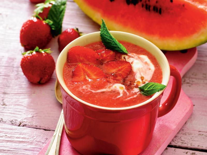 Chłodnik arbuzowo-truskawkowy