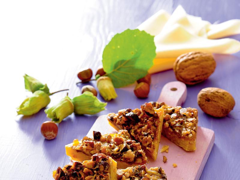 Ciasteczka z orzechami i masą krówkową