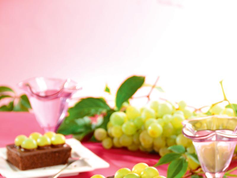 Ciasto czekoladowe z winogronami