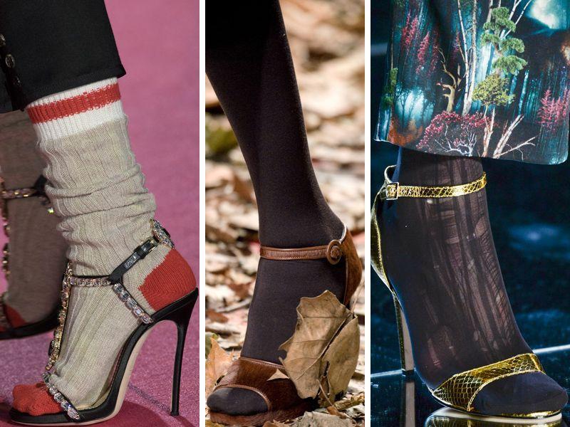 Coś dla trendsetterki: otwarte buty + skarpety - hit czy kit? [sonda]